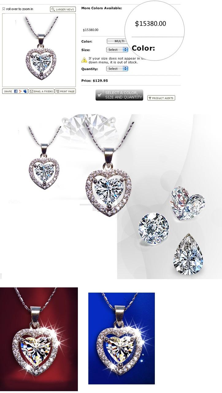 Solpresa Crystal Magma Unique Artistic Heart-Shaped Necklace