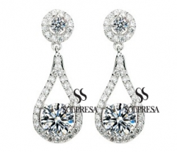 SALES Launching Price Solpresa Luxurious Roman Design Earrings WHITE