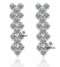 SALES Launching Price Solpresa Roman Zircon Inlaid Carina Earrings