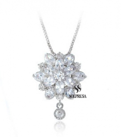 Solpresa Bridal Prosperity Flower 18K Necklace