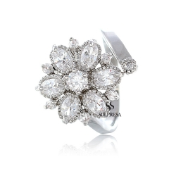 SALES Launching Price Solpresa Bridal Prosperity Flower 18K Ring