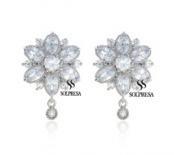 SALES Launching Price Solpresa Bridal Prosperity Flower 18K Earrings