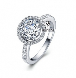 SALES Launching Price Solpresa Diamond Heart Super Flash Diamond Ring US6